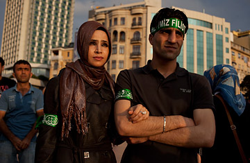 """Marks of Allegiance to Islam in Turkey in which we can see clearly """"Allah"""" on the right arm."""