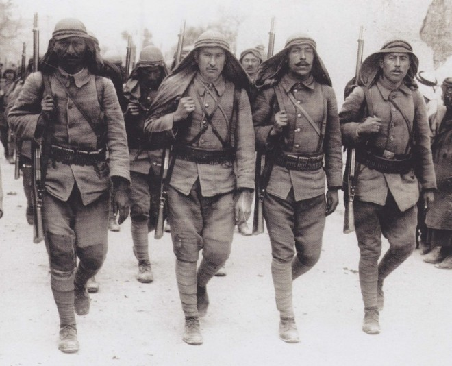 Ottoman soldiers in WW1
